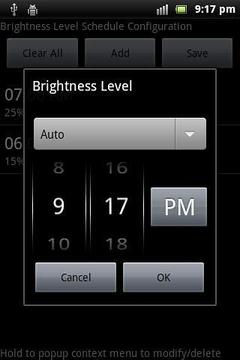 A定时萤幕亮度调整