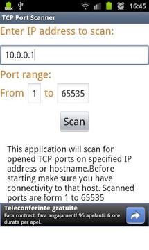 TCP Port Scanner