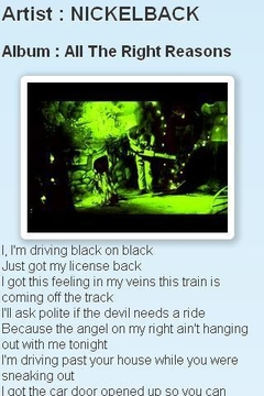 金属乐队 Nickelback的歌词