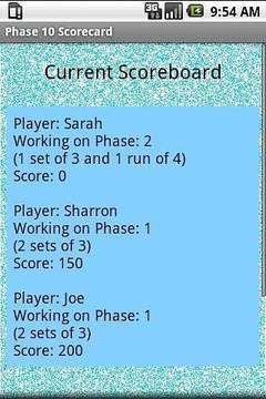 Phase 10 Scoreboard