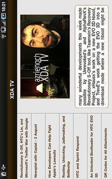 XDA TV - Tablet Edition