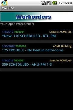eWO Ice Work Order Tool