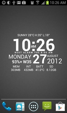 Super Typo Weather Info Clock
