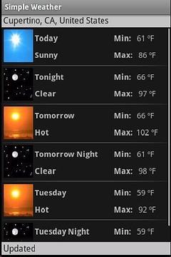 简单的天气预报软件