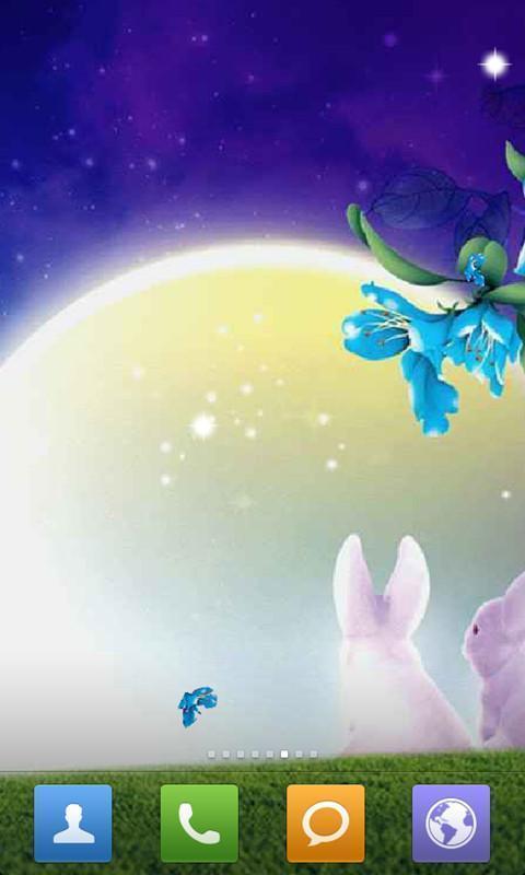 夜色玉兔动态壁纸_安卓夜色玉兔动态壁纸免费下载-pp