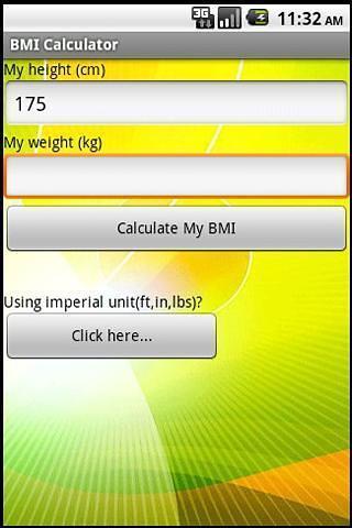 身高体重指数(BMI)计算器(公制)