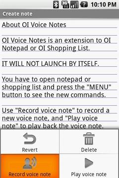 OI Voice Notes