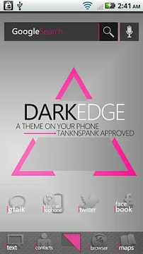 DarkEdge Pink (ADW Theme)