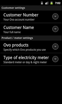 Ovo meter readings