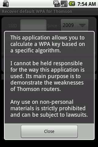 汤姆森路由器的WPA恢复