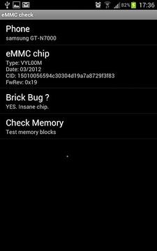 eMMC Brickbug Check