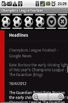 Champions League Football 2012