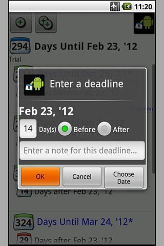 最终期限日历