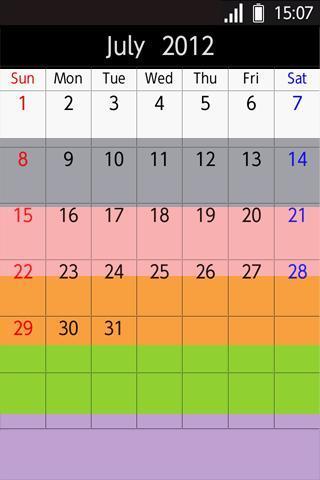 备忘录日历