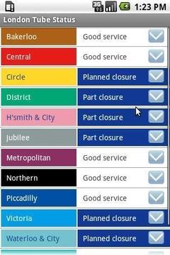 伦敦地铁状态