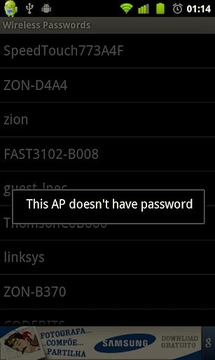 Wireless Passwords