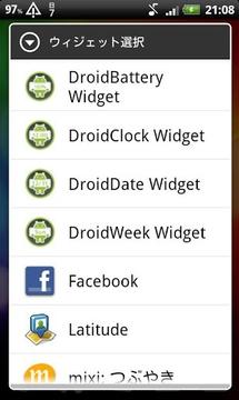 DroidWeek Widget