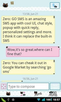 GOSMS Theme panda