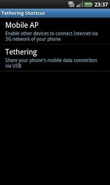 Tethering Shortcut