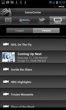 Verizon NHL GameCenter™