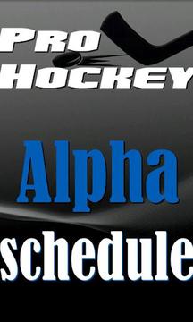 NHL临曲棍球阿尔法附表