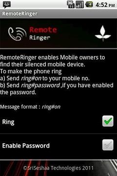 RemoteRinger, Phone Finder App