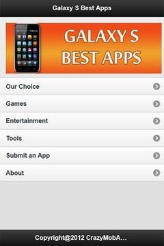Galaxy S Best Apps
