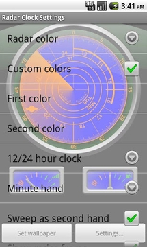 Radar Clock LWP Navy