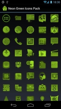 Neon Green Icons Pack
