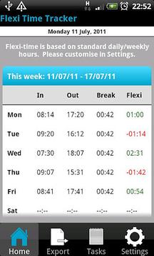 Flexi Time Tracker Lite