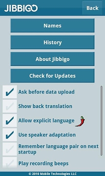 Jibbigo Player Free Translator