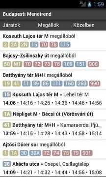 Budapesti menetrend