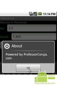 FlexCarCalc - 乙醇或天然气?