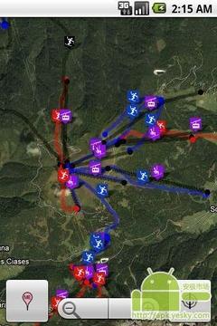 滑雪场地图
