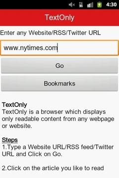 只读文本浏览器(Text Only Browser)