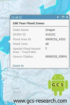 FEMA 100 Year Flood Zones
