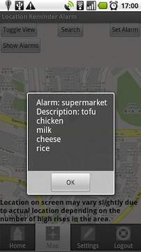 Location Reminder Alarm 位置提示闹钟