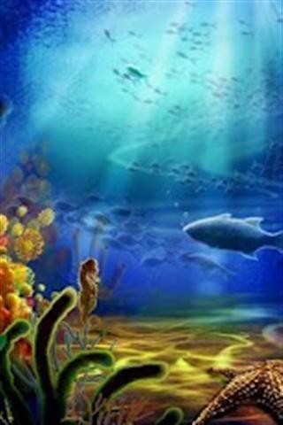 海洋世界水族馆动态壁纸