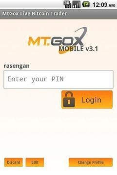 Bitcoin by MtGox Mobile