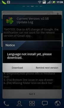 Czech package for GO Launcher EX