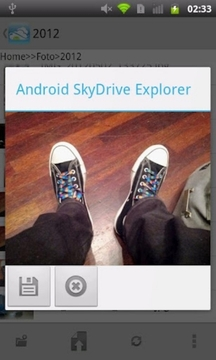 Android SkyDrive Explorer
