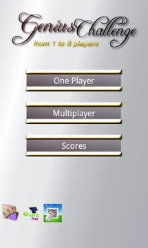 Genius Challenge 1 to 8 player