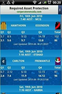 AFL Live Scores