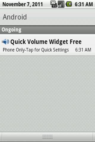 Quick Volume Widget Free