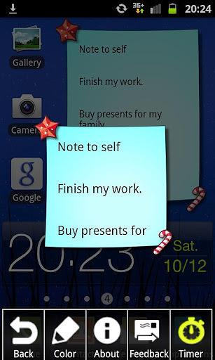 Christmas Note Widget