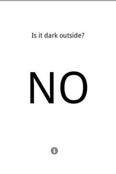 Is it dark outside