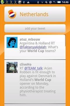 荷兰Twitter的世界杯