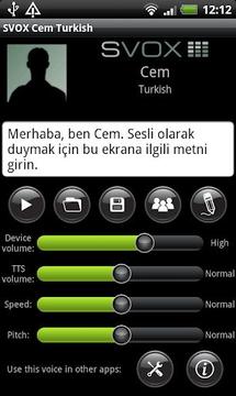 SVOX Turkish/Türk Cem Trial