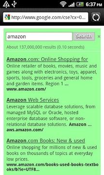 绿色为Google™搜寻