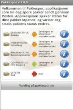 pakkespor - Sporing hos Posten